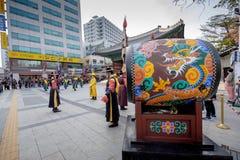 Królewska strażowa parada ceremonia w Deoksugung pałac Zdjęcie Stock