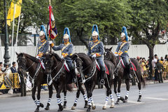 Królewska Tajlandzka kawaleria Zdjęcie Royalty Free