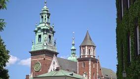 Królewska Wawel Gocka katedra w Krakow, Polska zdjęcie wideo