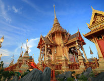 Królewski żałobny pyre przy Sanam Luang obrazy royalty free