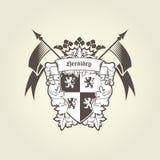 Królewski żakiet ręki - heraldyczny blazon, emblemat z osłoną ilustracja wektor