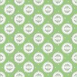 Królewski bezszwowy wzór na zielonym tle luz ()- Wektor kartoteka royalty ilustracja