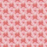 Królewski bezszwowy wzór z kwiatami wzrastał luz ()- Wektor kartoteka ilustracji