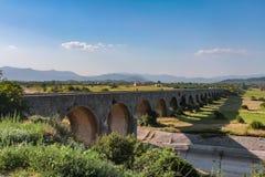 Królewski bridżowy Carev najwięcej nad Zeta w Montenegro zdjęcie royalty free