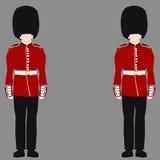 Królewski Brytyjski strażnik ilustracja wektor