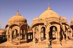 Królewski Chhatris lub cenotaph Bada Bagh Obraz Stock