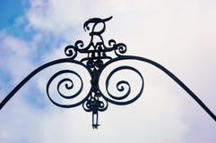 Królewski duński heraldyczny metalu symbol Obrazy Stock
