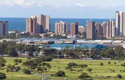 Królewski Durban pole golfowe i Greyville Biegowego śladu krajobraz Zdjęcia Royalty Free