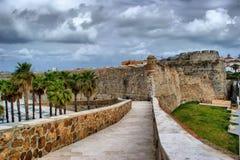 Królewski forteca Ceuta Fotografia Royalty Free