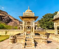 Królewski Gaitor cenotaph w Jaipur, Rajasthan, -, India zdjęcie royalty free