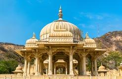 Królewski Gaitor cenotaph w Jaipur, Rajasthan, -, India obraz royalty free