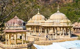 Królewski Gaitor cenotaph w Jaipur, Rajasthan, -, India zdjęcie stock