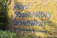 królewski Greenwich obserwatorium Zdjęcie Stock
