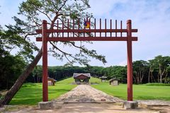 Królewski grobowiec Joseon dynastia, Korea fotografia stock