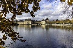 Królewski Grodowy Fontainebleau obraz stock
