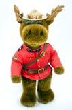 Królewski kanadyjczyk Wspinająca się Milicyjna łoś amerykański miękkiej części zabawka obrazy stock