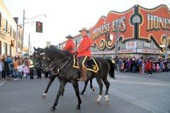 Królewski kanadyjczyk Wspinająca się policja zdjęcia royalty free