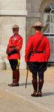 Królewski kanadyjczyk wspinająca się policja obrazy royalty free