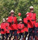 Królewski kanadyjczyk Wspinająca się policja - RCMP Obrazy Stock