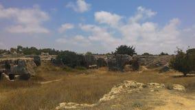 Królewski karaibski na wyspie Cypr, blisko miasteczka Paphos zdjęcia royalty free
