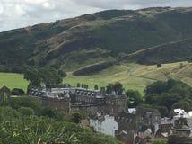 Królewski kasztel w Edynburg Szkocja Zdjęcia Stock