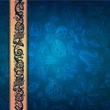 Królewski koronkowy dekoracyjny wzór abstrakcjonistyczny composit royalty ilustracja