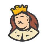 Królewski królewiątko głowy znak royalty ilustracja