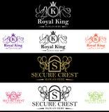 Królewski królewiątko grzebienia logo Fotografia Royalty Free