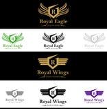 Królewski królewiątko grzebienia logo Obraz Royalty Free