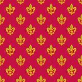 Królewski leluja wzór Fotografia Royalty Free