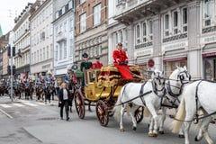 Królewski nowego roku świętowanie w Kopenhaga, Dani Obrazy Royalty Free