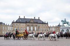 Królewski nowego roku świętowanie w Kopenhaga, Dani Fotografia Stock