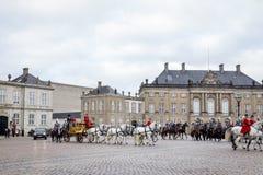 Królewski nowego roku świętowanie w Kopenhaga, Dani Zdjęcie Stock
