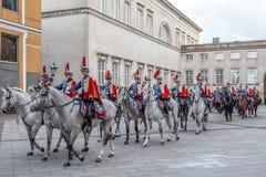 Królewski nowego roku świętowanie w Kopenhaga, Dani Obraz Stock