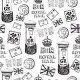 Królewski poczta wzór Obrazy Royalty Free