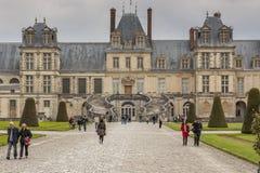 Królewski polowanie kasztel w Fontainebleau, Francja Obraz Royalty Free
