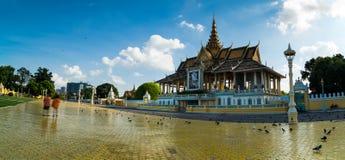 królewski powikłany Cambodia pałac obraz royalty free