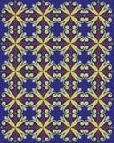 królewski projekta błękitny złoto Zdjęcia Stock