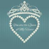 Królewski projekta szablon Miłości valentine karta Fotografia Stock