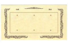 Królewski retro stary papier fotografia stock