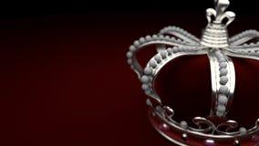 Królewski srebny korony tła królewiątko royalty ilustracja