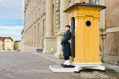 Królewski strażnik - Szwecja obrazy royalty free