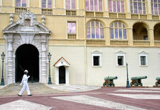 Królewski strażowy wmarsz przed pałac Monaco Zdjęcie Royalty Free