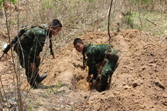 Królewski tajlandzki wojsko Zdjęcie Royalty Free