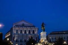 Królewski Theatre w Madryt Fotografia Royalty Free