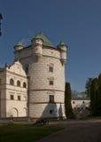 Królewski wierza w Krasiczyn kasztelu w Polska Obrazy Stock