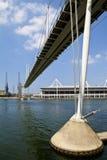 Królewski Wiktoria doku most w Londyn Fotografia Stock