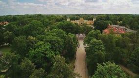 Królewski Wilanow pałac w Warszawa zdjęcie wideo