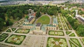 Królewski Wilanow pałac w Warszawa zbiory wideo