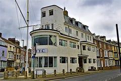 Królewski Yorkshire jachtu klub, Bridlington, w wielkanocy 2019 zdjęcie stock